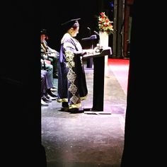Backstage at The Lowry #SalfordGrad Chancellor Jackie Kay on stage