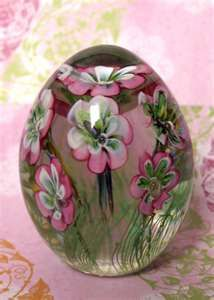 Pink Flower Paperweight