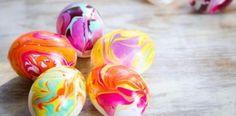 Veľkonočné vajíčka zdobené lakom na nechty | Návod ako na to