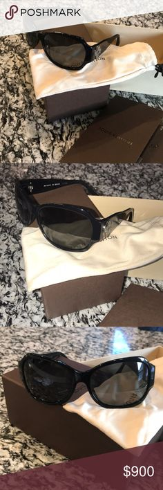 LOUIS VUITTON SUNGLASSES Never worn Louis Vuitton sunglasses. 100% authentic I have receipt from Louis Vuitton store. Never going to wear them so I'm selling. Not in stores anymore. Comes with box dust bag and the glasses case. I just didn't feel like getting the glasses case from the top of my closet but it will come with purchase. Louis Vuitton Accessories Sunglasses
