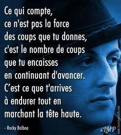 Rocky Balboa Poster, Rocky Balboa Movie, Rocky Balboa Quotes, Rocky Film, Favorite Movie Quotes, Famous Movie Quotes, Inspirational Movies, Motivational Pictures, Citation Yoda