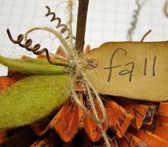 Freebie Friday - A Fall Pumpkin - Two Paper Divas