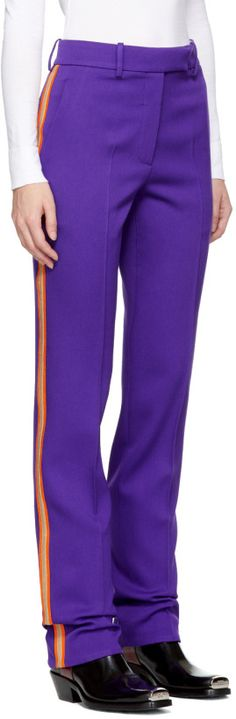 Calvin Klein 205W39NYC purple marching band trousers. Fall 2017.