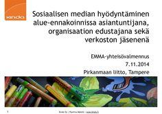EMMA-yhteisovalmennus by Pauliina Mäkelä via slideshare