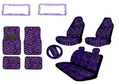 Premium New Style Purple Zebra 15pc High Back Front Seat Covers, Bench Seat Cover with Head Rest, Steering Wheel Cover with Shoulder Pads, 4pc Front and Back Floor Mats, 2 License Plate Frames UNIQUE AUTOMOTIVE ACCESSORIES http://www.amazon.com/dp/B003S091FE/ref=cm_sw_r_pi_dp_Aldxub0FA1968