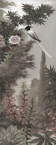 Le jardin à la Mandragore grisaille lé unique
