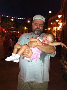 Lilly at Disney with Uncle Larry .