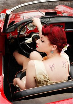 vintage car pin ups | Hot Rods, Classic Cars, and Pin-Up Girls Gallery 9 | Sad Man's Tongue ...