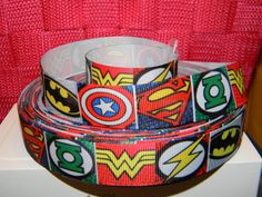 Collar And Leash, How To Make Bows, Grosgrain Ribbon, Captain America, Hair Bows, Craft Projects, Thing 1, Yard, Superhero