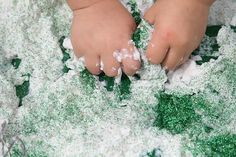 "Soap shavings and glitter are the key ingredients for this sparkle soap ""mud"" recipe from The Imagination Tree. The best part? No real mud necessary! Pinned by SPD Blogger Network. For more sensory-related pins, see http://pinterest.com/spdbn"