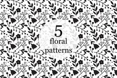 Elegant patterns with flowers Graphics Elegant seamless pattern with flowers, vector illustration. Very simple and beautiful backgrounds! by Maria Galybina