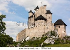 The medieval castle. Today the museum Country. Poland Place: Jura of Krakow Czestochowa, Village: Bobolice