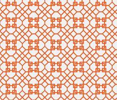 Lattice- Orange fabric by melberry on Spoonflower - custom fabric