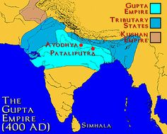 The Gupta dynasty, which ruled from 320-550 AD, and stretched over much of the Indian subcontinent. It was founded by Maharaja Sri Gupta. The peace and prosperity that occurred under the Gupta dynasty allowed science and art to flourish.