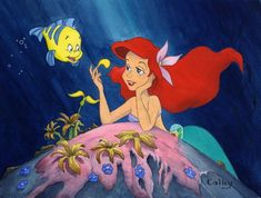 Tattoo Disney Characters The Little Mermaid - RetroModa Disney Tattoos, Disney Love, Disney Art, Mermaid Princess, Disney Princess, Ariel And Flounder, Watercolor Disney, Disney Animated Movies, Disney Kunst