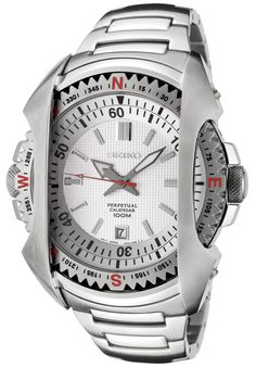 Price:$203.05 #watches Seiko SNQ087P1, This Seiko ruggid timepiece combines both the casual and sophisticated looks.