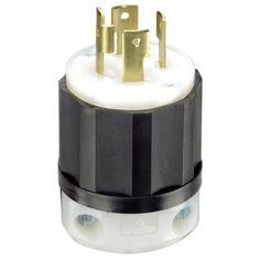 Leviton 061-2711 30 Amp 4W, 3P Nema L14-30P Locking Plug (Light bulbs), Clear