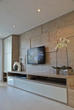 Stylish Modern TV Stand Ideas for Small Spaces modern tv stands for flat screens Living Room Panelling, Living Room Wall Units, Living Room Tv Unit Designs, Living Room Decor, Modern Tv Room, Modern Tv Wall Units, Living Room Modern, Interior Design Living Room, Tv Stand Ideas For Small Spaces