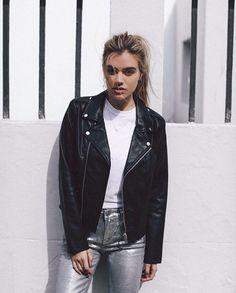 Joanna Halpin ~ black leather jacket