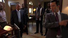"Burn Notice 2x14 ""Truth and Reconciliation"" - Michael Westen (Jeffrey Donovan), Jean Pierre Duman (James Black) & Jean Pierre's Father (Clarence Williams III)"