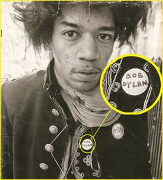 Jimi Hendrix with Dylan pin
