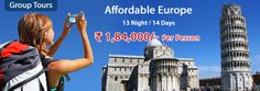 Europe Group Tours offers Book Affordable Europe Group Tour Packages 2014, Budget Group Holiday in Europe with amazing discounted rate.