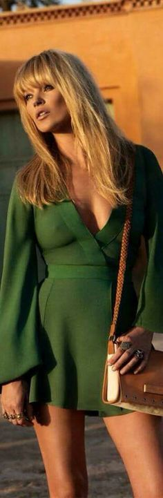 Kate Moss in Green