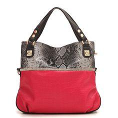 (FL003911) (Red) 2012 Spring New Arrival Korean Handbags Lattice Shoulder Bag Cross-body Handbag [FL003911] - US $124.99 : FashionLeap