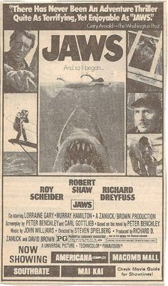 Pin by Stacey Garrett on Dark Side Old Movies, Vintage Movies, Great Movies, Vintage Tv, Vintage Photos, Jaws Movie Poster, Movie Posters, Classic Monsters, Great White Shark