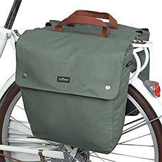 tourbon Wasserfeste Leinwand Fahrrad hinten Sitz Carrier Gepäck Aufbewahrungstasche Radfahren doppelt aufrollbar Fahrradtasche hinten Pack - Grün