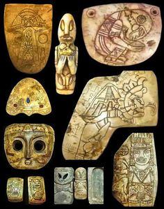 Ancient Alien Theory- These were artifacts that the Mexican government released in 2013 to the public. They were found in the Mayan civilization. Ancient Aliens, Aliens Und Ufos, Ancient History, Tudor History, Alien Theories, Alien Artifacts, Unexplained Mysteries, Mystery Of History, Ufo Sighting