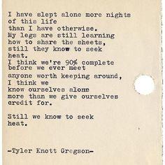 Typewriter Series #2136 by Tyler Knott Gregson