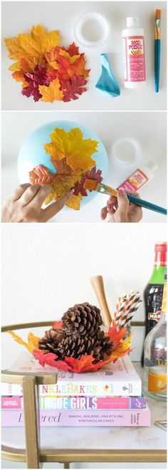 Learn how to make a DIY leaf bowl using dollar store supplies, a balloon, and Mod Podge Stiffy. This craft is so easy, even kids can do it. Perfect fall or Thanksgiving decor. Holiday Crafts For Kids, Autumn Crafts, Diy Crafts For Kids, Teen Crafts, Craft Ideas, Thanksgiving Diy, Thanksgiving Decorations, Pinterest Crafts, Diy Projects To Sell