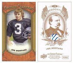 Joe Montana 2014 UD Goodwin Champions 70 Presidential (Gold) (#1/1)