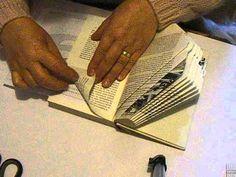 Buch Falten die Zahl 9 Book Folding - YouTube