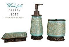 Tyrkysové koupelnové doplňky do koupelny / Turquoise bathroom accessories