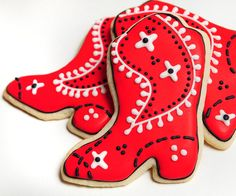 Cowboy boot cookies - guiltyconfections.etsy.com