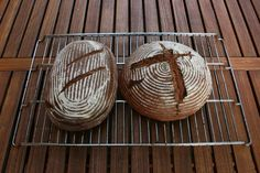 Strong sourdough bread from rye wholemeal flour after an ancient Hessian orang . - Brot im Topf - Frauen taschen Sourdough Bread, Made Goods, Sour Cream, Food And Drink, Basket, Homemade, Baking, Eat, Recipes