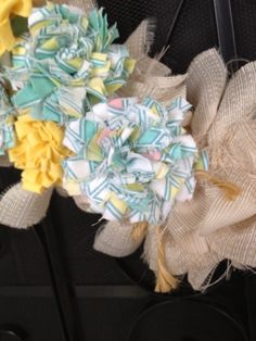 Super easy fabric flower tutorial
