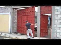 Sliding Garage Doors, Glass Garage Door, Garage Door Design, Sliding Gate, House Main Gates Design, Fence Gate Design, Tiny House Design, Small Rustic Kitchens, Welded Metal Projects