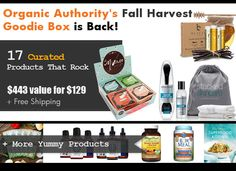 The Organic Authority Fall Harvest Goodie Box is here! On sale Monday, October 5th at 8 am PST! Set your clocks and get ready to enjoy more than $443 worth of goodies from @ilmorso @stackedskincare @gardenofliferaw @BeautybyEarth @sterlingbooks @hanuskincare @Ground 2 Table  @makerskit @RWGarciaSnacks @wickedpins @lightlifefoods Get all the details here: http://www.organicauthority.com/get-seasons-best-2015-fall-harvest-goodie-box