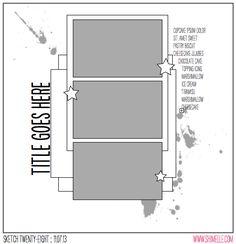 scrapbook page sketch by shimelle laine @ shimelle.com