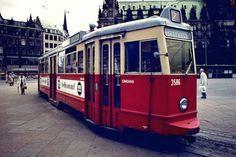 Hamburger Straßenbahn um 1975 von Max Re.