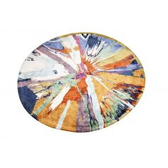 This Multi Color Round Rug in hand tufted with a blend of wool and viscose. Is and ideal combination for a contemporary home