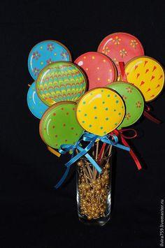 """Кулинарные сувениры ручной работы. Ярмарка Мастеров - ручная работа. Купить Пряники """"Воздушные шарики"""". Handmade. Пряник воздушный шарик"""