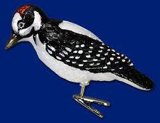"""""""Hairy Woodpecker"""" (18039) Old World Christmas Glass Ornament"""