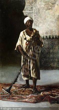 images of moors in paintings   GODOY Y CASTRO Federico,The Moorish guard of Qadis,Bonhams,Dubai