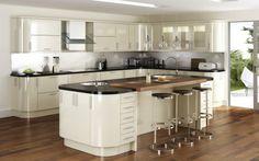 Kitchen Design Studio - The Kitchen Partners - Clifton, Bristol Kitchen Sale, Stylish Kitchen, New Kitchen, Stone Kitchen, Kitchen Ideas, Cream Gloss Kitchen, High Gloss Kitchen, Gloss Kitchen Cabinets, Kitchen Units