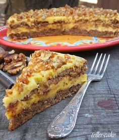 No Carb Recipes, Baking Recipes, Cake Recipes, Dessert Recipes, Gluten Free Cooking, Gluten Free Desserts, Sweet Desserts, Sweet Recipes, Hungarian Desserts
