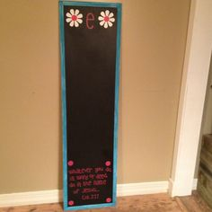 DIY Chalkboard made from a $4.50 mirror from Walmart!